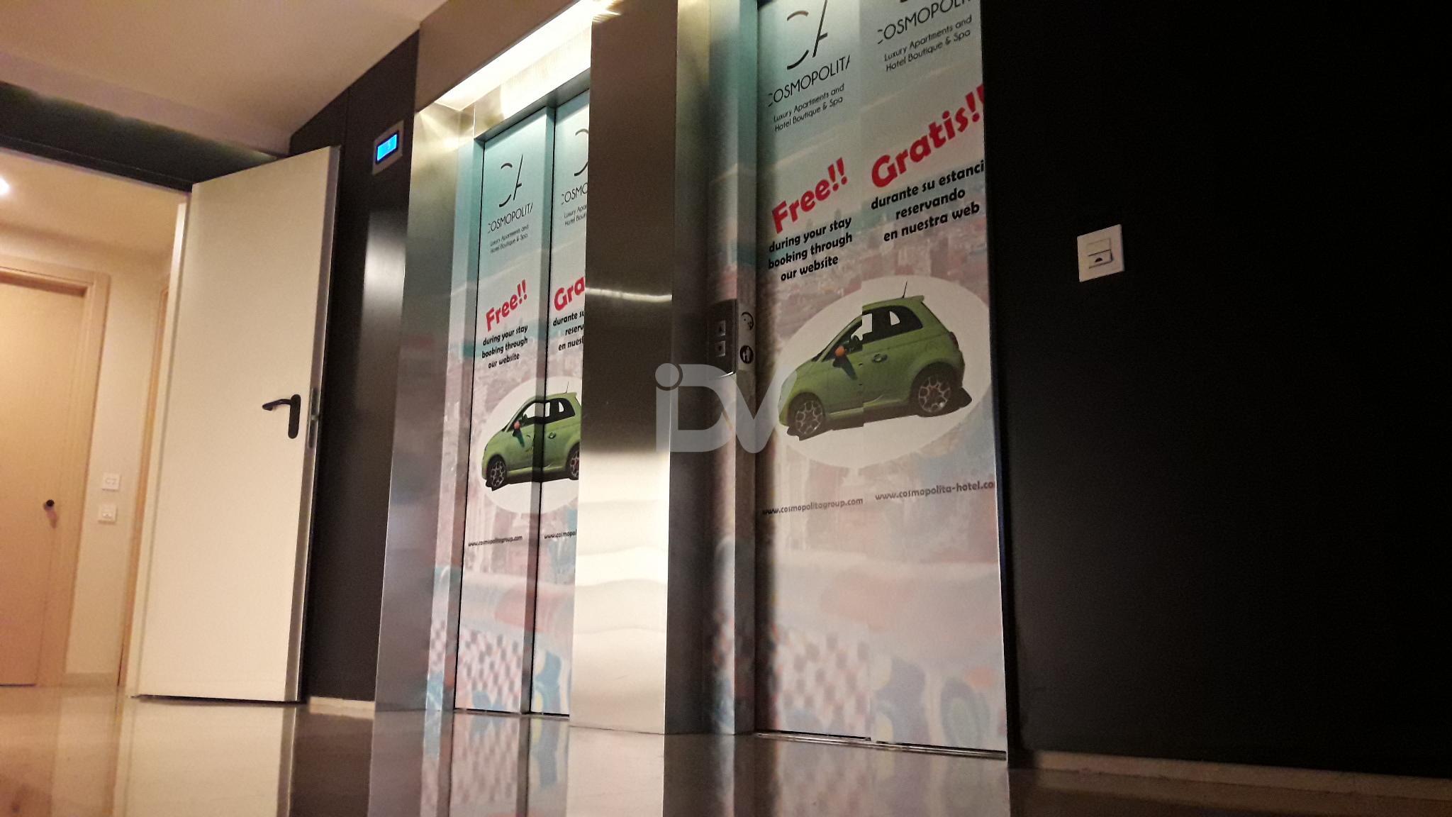 publicidad en ascensor