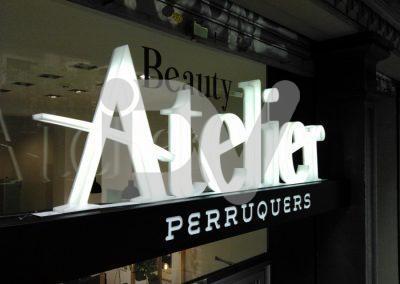 Rótulo Barcelona peluquería