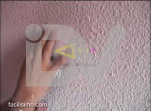 Como eliminar gotelé de una pared