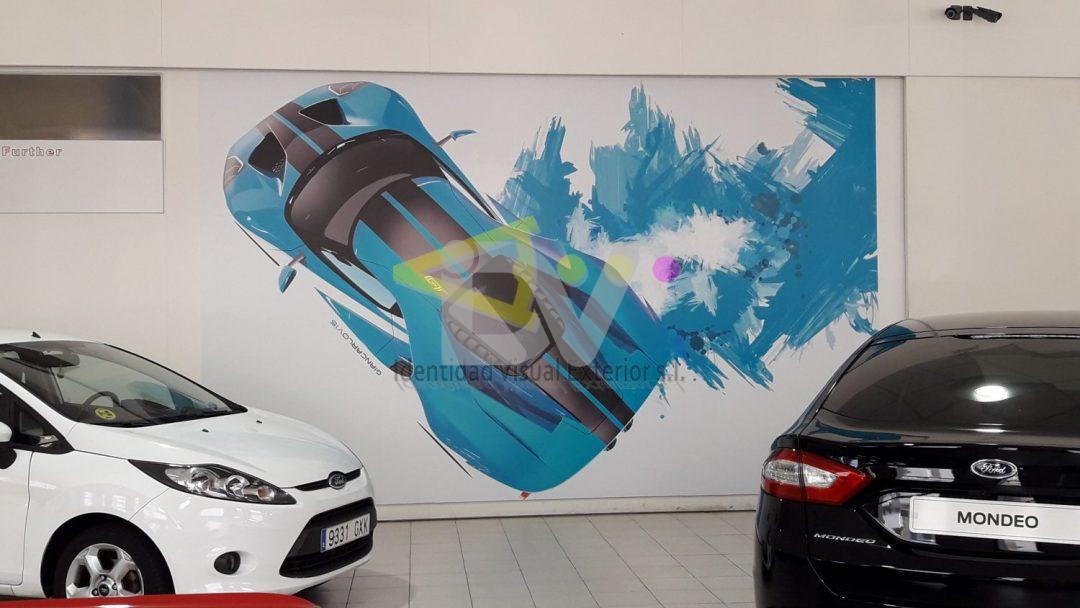 foto mural vinilo en pared