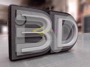 Logotipo de poliexpán 3d pintado, personalizado