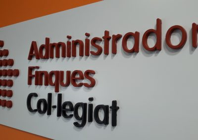 Letras 3D en pared