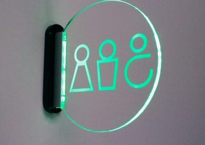 luz lavabos pictograma