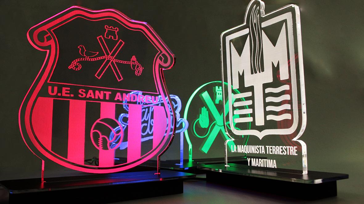Lámpara luz escudos logotipos glorificador